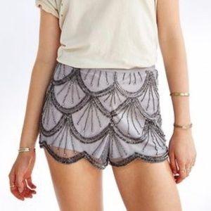 Kimchi Blue Sequin Scalloped Shorts